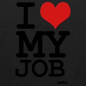 Black i love my job by wam Women's T-Shirts - Men's Premium Tank