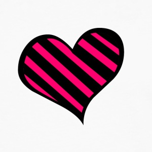 PINK ZEBRA HEART - Men's Premium Long Sleeve T-Shirt