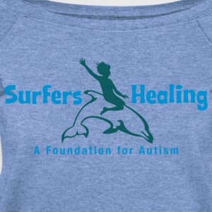 Spider baby blue Surfers Healing Logo T-Shirts - Women's Wideneck Sweatshirt