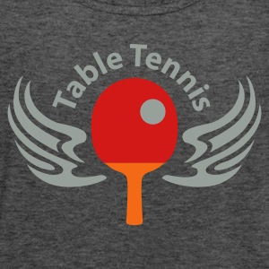 Deep heather table_tennis_3c_blanko Women's T-Shirts - Women's Flowy Tank Top by Bella