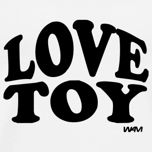 White love toy by wam Buttons - Men's Premium T-Shirt