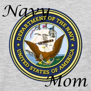 Heather grey Navy Mom Women's T-Shirts - Men's Premium Long Sleeve T-Shirt