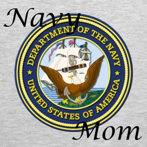 Heather grey Navy Mom Women's T-Shirts - Men's Premium Tank