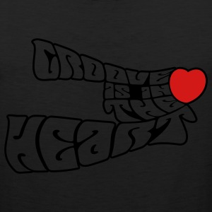 Black groove_is_in_the_heart2 Women's T-Shirts - Men's Premium Tank