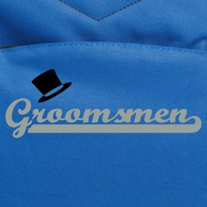 Royal blue Groomsmen T-Shirts - Computer Backpack