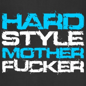 Black Hardstyle Mother Fucker (White Txt) T-Shirts - Adjustable Apron