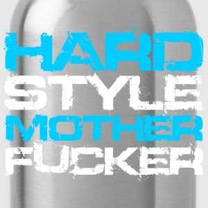 Black Hardstyle Mother Fucker (White Txt) Hoodies - Water Bottle