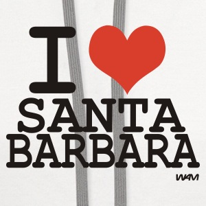White i love santa barbara  by wam Women's T-Shirts - Contrast Hoodie