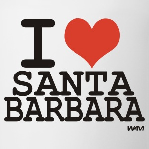 White i love santa barbara  by wam Women's T-Shirts - Coffee/Tea Mug