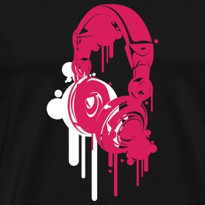 Black Headphones Pink Hoodies - Men's Premium T-Shirt