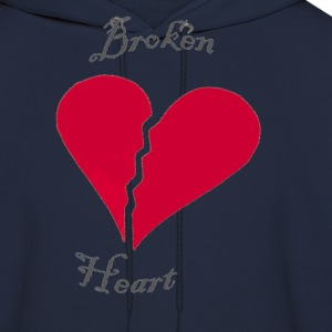 Navy broken heart Women's T-Shirts - Men's Hoodie