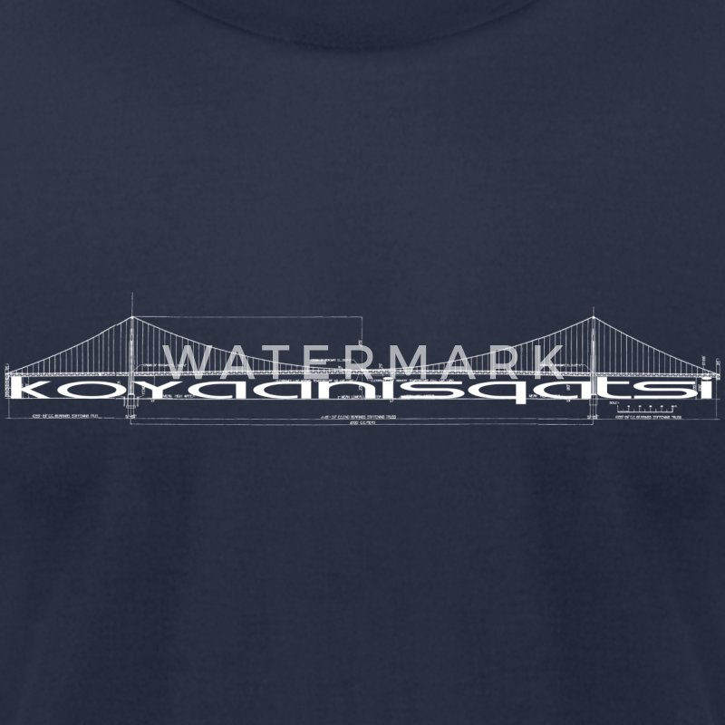 Navy Koyaanisqatsi T-Shirts - Men's T-Shirt by American Apparel