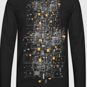 Black squares sqared designer graphic T-Shirts - Men's Premium Long Sleeve T-Shirt