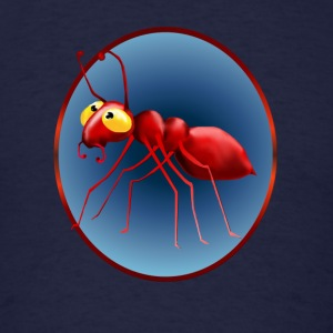Red Ant In A Circle - Men's T-Shirt