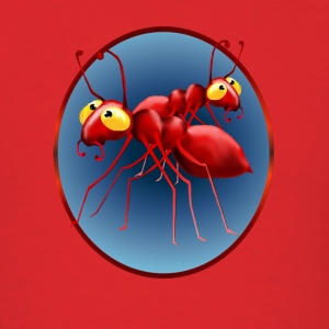 Two Red Ants in a Circle - Men's T-Shirt