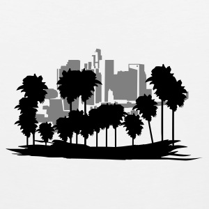 White Los Angeles T-Shirts - Men's Premium Tank