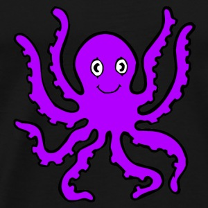 Black purple octopus Sweatshirts - Men's Premium T-Shirt