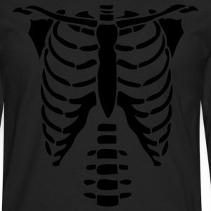 Black Skeleton Torso Halloween Costume T-shirts Women's T-Shirts - Men's Premium Long Sleeve T-Shirt