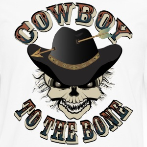Cowboy Skull - Men's Premium Long Sleeve T-Shirt