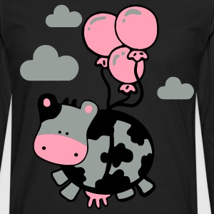 Black flying cow Kids' Shirts - Men's Premium Long Sleeve T-Shirt