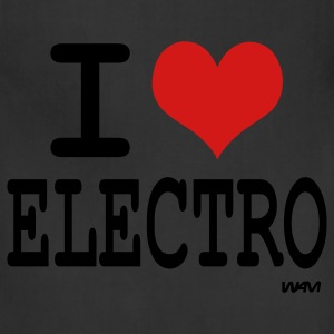 Black i love electro by wam Women's T-Shirts - Adjustable Apron