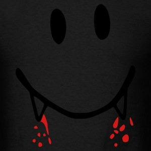 Light pink smiley, vampire, blood, smile, face Long Sleeve Shirts - Men's T-Shirt