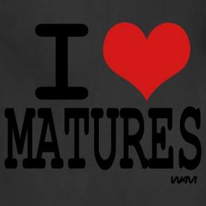 Black/white i love matures by wam T-Shirts - Adjustable Apron