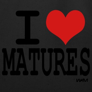 Black/white i love matures by wam T-Shirts - Eco-Friendly Cotton Tote