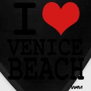 Black i love venice beach by wam Women's T-Shirts - Bandana