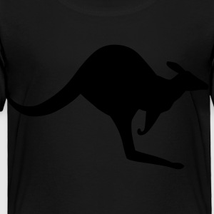 Black Australian Kangaroo Kids' Shirts - Toddler Premium T-Shirt