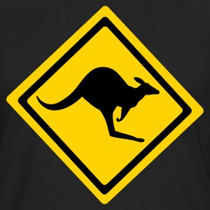 Black Australian Kangaroo Sign  Kids' Shirts - Men's Premium Long Sleeve T-Shirt
