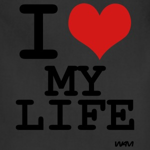 Black i love my life by wam Women's T-Shirts - Adjustable Apron