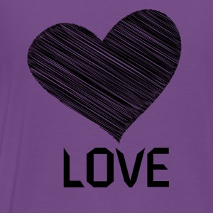Hoodie with Love - Men's Premium T-Shirt