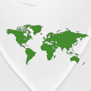 Gold World Map T-Shirts - Bandana