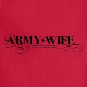 ARMY WIFE :: WE FIGHT TEE - Adjustable Apron