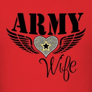 ARMY WIFE w/ WINGED HEART HOODIE - Men's T-Shirt