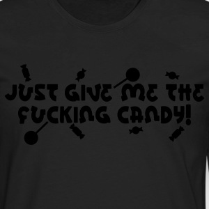 Black Give Me Candy Kids' Shirts - Men's Premium Long Sleeve T-Shirt
