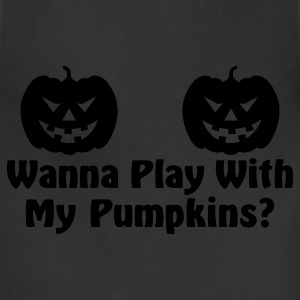 Black Play With Pumpkins Women's T-Shirts - Adjustable Apron
