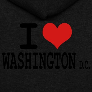 i love washington dc by wam Sweatshirts - Veste à capuche unisexe American Apparel