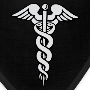 Black Caduceus T-Shirts - Bandana