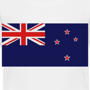 White New Zealand Flag Kids' Shirts - Toddler Premium T-Shirt