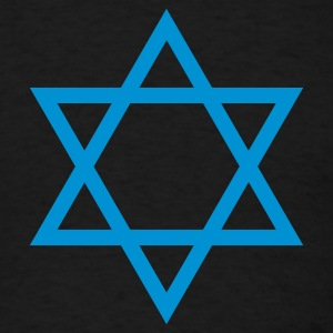 Black Star of David 1 Color Long Sleeve Shirts - Men's T-Shirt