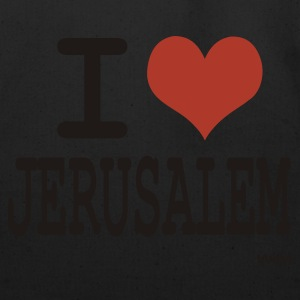 Black/white i love jerusalem by wam T-Shirts - Eco-Friendly Cotton Tote