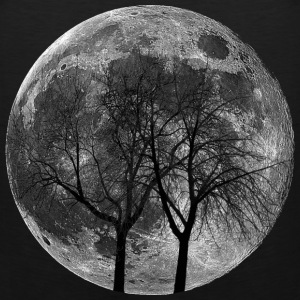Moon with Trees T Shirt - Men's Premium Tank
