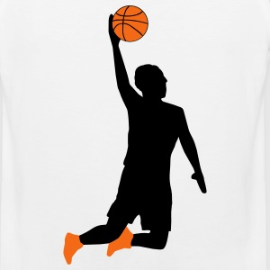 White Basketball Player Kids' Shirts - Men's Premium Tank