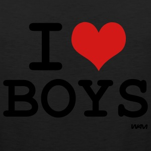Black i love boys by wam Women's T-Shirts - Men's Premium Tank