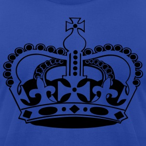 Royal blue Royal and Regal crown Hoodies - Men's T-Shirt by American Apparel