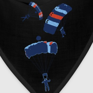 Sky blue cool skydiving parachutes Women's T-Shirts - Bandana
