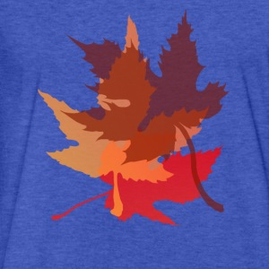 Big Autumn Leaves - Fitted Cotton/Poly T-Shirt by Next Level