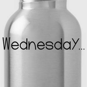 Black Favorite Day Wednesday T-Shirts - Water Bottle